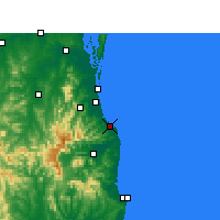 Nearby Forecast Locations - Coolangatta - Χάρτης