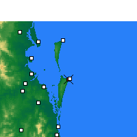 Nearby Forecast Locations - Southport - Χάρτης