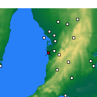 Nearby Forecast Locations - Αδελαΐδα - Χάρτης