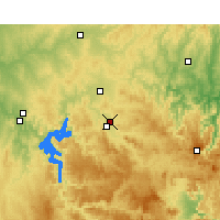 Nearby Forecast Locations - Mudgee Airport - Χάρτης