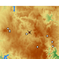 Nearby Forecast Locations - Bathurst - Χάρτης