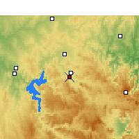 Nearby Forecast Locations - Mudgee - Χάρτης