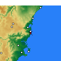 Nearby Forecast Locations - Kiama - Χάρτης
