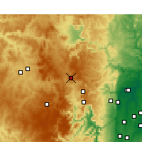 Nearby Forecast Locations - Lithgow - Χάρτης