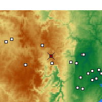 Nearby Forecast Locations - Mount Boyce - Χάρτης