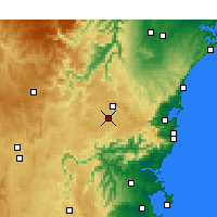 Nearby Forecast Locations - Moss Vale - Χάρτης