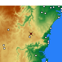 Nearby Forecast Locations - Bowral - Χάρτης