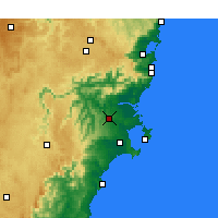 Nearby Forecast Locations - Nowra - Χάρτης