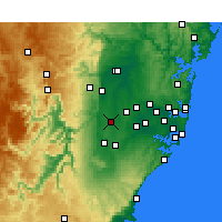 Nearby Forecast Locations - Badgery's Creek - Χάρτης