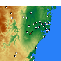 Nearby Forecast Locations - Campbelltown - Χάρτης