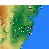 Nearby Forecast Locations - Parramatta - Χάρτης