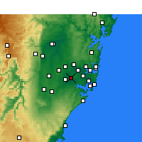 Nearby Forecast Locations - Bankstown - Χάρτης