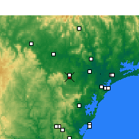 Nearby Forecast Locations - Cessnock - Χάρτης
