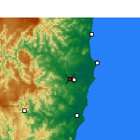Nearby Forecast Locations - Kempsey Airport - Χάρτης