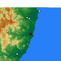 Nearby Forecast Locations - Port Macquarie - Χάρτης