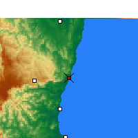 Nearby Forecast Locations - Coffs Harbour - Χάρτης