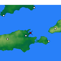 Nearby Forecast Locations - Kingscote - Χάρτης