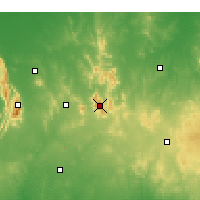 Nearby Forecast Locations - Lookout Hill - Χάρτης