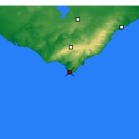 Nearby Forecast Locations - Cape Otway - Χάρτης