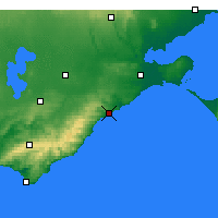 Nearby Forecast Locations - Aireys Inlet - Χάρτης