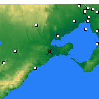 Nearby Forecast Locations - Geelong - Χάρτης