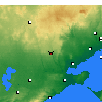 Nearby Forecast Locations - She Oaks - Χάρτης