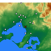 Nearby Forecast Locations - Moorabbin - Χάρτης