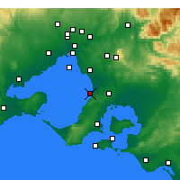 Nearby Forecast Locations - Frankston - Χάρτης