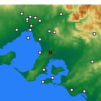Nearby Forecast Locations - Cranbourne - Χάρτης