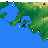 Nearby Forecast Locations - Rhyll - Χάρτης