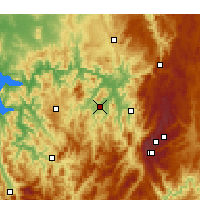 Nearby Forecast Locations - Corryong - Χάρτης