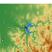 Nearby Forecast Locations - Hume Dam - Χάρτης