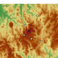Nearby Forecast Locations - Falls Creek - Χάρτης