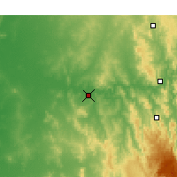 Nearby Forecast Locations - Wagga Wagga - Χάρτης
