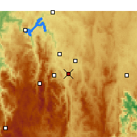 Nearby Forecast Locations - Tuggeranong - Χάρτης