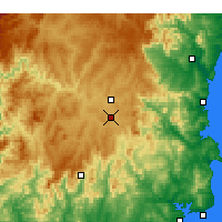 Nearby Forecast Locations - Bombala - Χάρτης