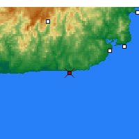 Nearby Forecast Locations - Point Hicks - Χάρτης