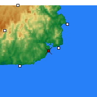Nearby Forecast Locations - Mallacoota - Χάρτης