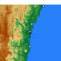 Nearby Forecast Locations - Moruya Heads - Χάρτης