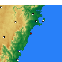 Nearby Forecast Locations - Ulladulla - Χάρτης