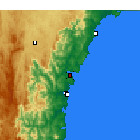 Nearby Forecast Locations - Batemans Bay - Χάρτης