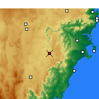Nearby Forecast Locations - Nerriga - Χάρτης