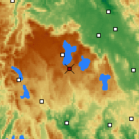 Nearby Forecast Locations - Butlers Gorge - Χάρτης