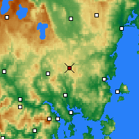 Nearby Forecast Locations - Tunnak - Χάρτης
