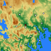 Nearby Forecast Locations - Bushy Park - Χάρτης