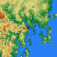 Nearby Forecast Locations - Χόμπαρτ - Χάρτης