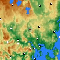 Nearby Forecast Locations - Melton Mowbray - Χάρτης