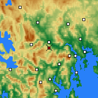 Nearby Forecast Locations - Moogara - Χάρτης