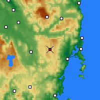Nearby Forecast Locations - Lake Leake - Χάρτης