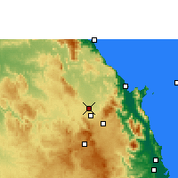 Nearby Forecast Locations - Mareeba Airfield - Χάρτης